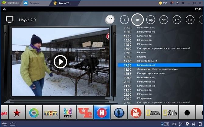 как посмотреть телевизор онлайн через Бизон ТВ на ПК