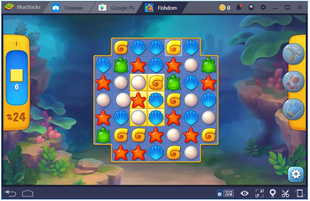 Игровой процесс Fishdom