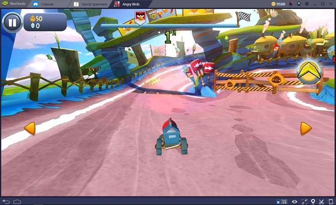 Игра Angry Birds Go на компе онлайн