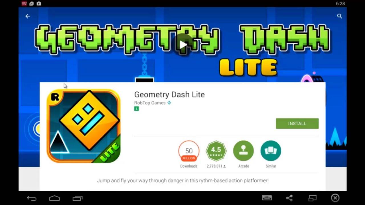 Скачать Geometry Dash Lite на компьютер