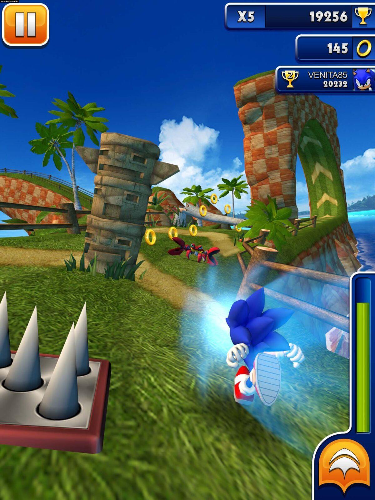 Скачать Sonic Dash на компьютер для Windows 7, 10