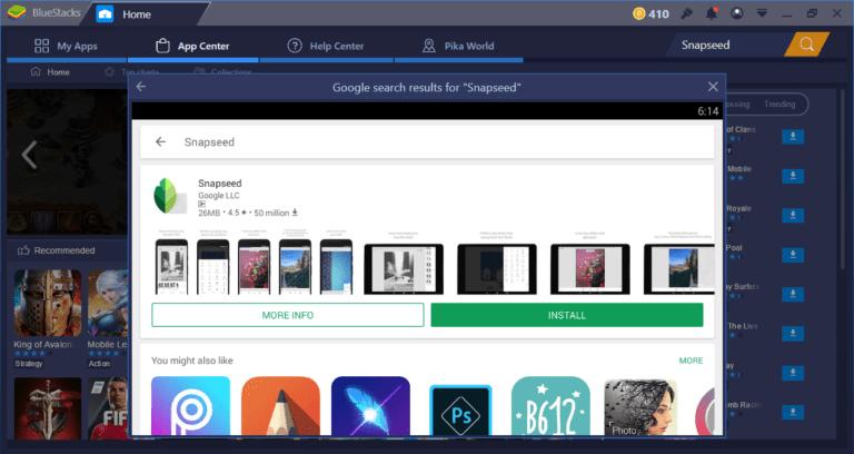 Скачать Snapseed на компьютер для Windows 7, 10